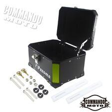 Black Motorcycle Aluminum Rear Box Boxs Pannier Bag Expedition Pazoma Logo Hot
