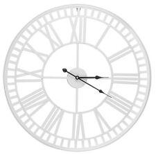 Large 60cm Dia Skeleton Cut Out White Iron Roman Numeral Wall Clock Home Decor