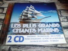 LES PLUS GRANDS CHANTS MARINS - COMPILATION COFFRET 2 CD BRETAGNE  CD  RARE