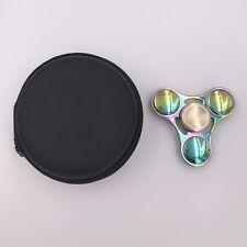 Rainbow Zinc Alloy EDC Hand Fidget Spinner High Speed Focus Toys 6 Min Spin USA