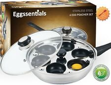 Egg Poacher - New Nonstick 6 Egg Poaching Pan stainless steel w/ Cups PFOA Free