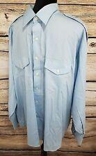 Van Heusen Mens The Aviator Size 18 1/2 34-35 Long Sleeve Pilot Shirt Button Up
