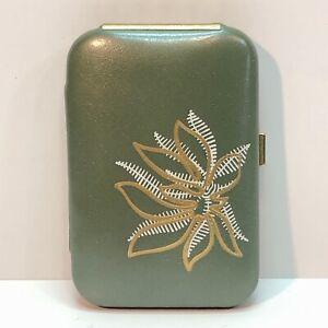 Vintage Buxton Leather Key-Tainer Key Holder Green