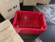 SG-WP WEATHERPROOF METAL BACK BOX RED