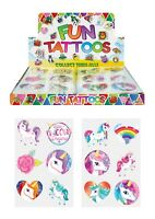 Temporary Tattoos - Unicorn - Childrens Kids Girls Boys - Party Bag Fillers