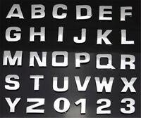 1pc Letter Metallic Alphabet StickerS Car Truck Emblem Badge DecalS Silver
