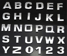 1pc Letter Metallic Alphabet StickerS Car Truck Emblem Badge DecalS Silver