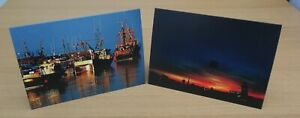 2 x Sunset themed Greetings Cards - A5 - white envelope - Blank - Photo Image