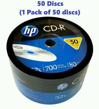 50 HP CD CD-R Logo Branded 52X Blank media disc 700MB