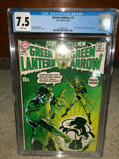 Green Lantern #76 CGC 7.5 DC 1970 Neal Adams! White Pages! JLA Arrow! K10 136 cm