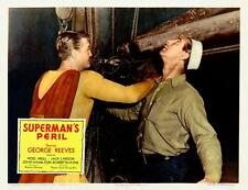 GEORGE REEVES Hitting Bad Guy For SUPERMAN'S PERIL 11x14 LC Print 1954
