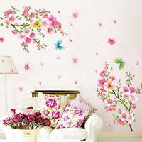 Flower Bird Plum Peach Blossom Wall Decal Home Decor Room Mural Wall Sticker