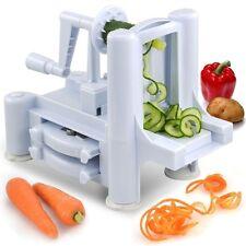Prima Kitchen Tri Blade Spiralizer Food Vegetable and Fruit Slicer Cutter Choper