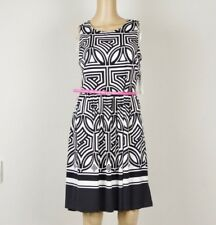 NWT Eliza J Geo Jersey Belted Fit & Flare Dress Size 10