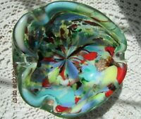 "Vintage Beautiful Murano ""Tutti Frutti"" AVeM Mid-Century Art Glass Ashtray"