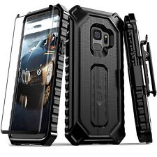 Samsung Galaxy S9 Case Full-Body Belt Cover Clip Holster With Screen Protector