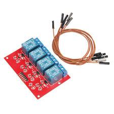 5V 4 CANALI Relè Modulo di bordo con 6pc via cavo per Arduino AVR PIC ARM