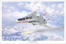 """F-14 Tomcat  Aviation Art Print - 16"""" x 24"""""""