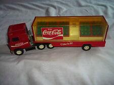 1980 COCA COLA 8 WHEEL TRUCK & TRAILER BOTTLE HAULER