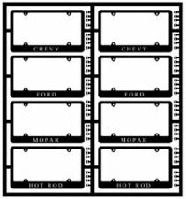 MODEL CAR GARAGE 2008 1/24-1/25 MODERN LICENSE PLATE FRAMES - PHOTO ETCH (8)