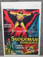 ARGOMAN THE FANTASTIC SUPERMAN/SUPERMAN DIABOLICO orig movie poster ROGER BROWNE