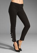 J BRAND 9955 BLACK MARA BUCKLE ANKLE STRAPS SKINNY LEG JEANS SIZE 28 $250