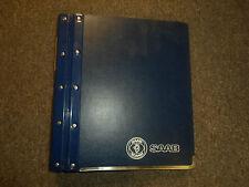 1991 Saab All models Warranty Policies and Procedures Manual FACTORY OEM BOOK 91