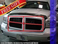 GTG 2005 - 2007 Dodge Dakota 4PC Gloss Black Upper Replacement Billet Grille Kit