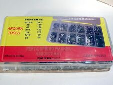 METAL WASHER ASSORTMENT KIT 720pc FLAT & SPRING IN PLASTIC STORAGE CASE- NEW