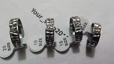 10 Wholesale Job lot of Quality Silver Plated Band rings Unisex