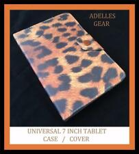 UNIVERSAL 7 INCH ANDROID TABLET CASE COVER SAMSUNG ,PENDO BROWN LEOPARD PRINT