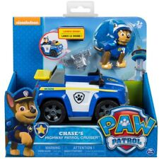 Paw Patrol Vehicle with Pup Chase's Highway Patrol Cruiser Toy Figure Model
