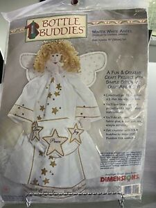 Winter White Angel Bottle Buddies Kit by Dimensions 62155