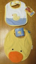 NWT Carter's Two LITTLE DUCKIE Discontinued Vintage DUCK BIBS * Squeeker HTF
