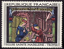 FRANCE - Yvert 1531 - VITRAIL EGLISE TROYES -Timbre  neuf**