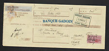 """COSNE-sur-LOIRE (58) MENUISERIE / MEUBLES """"CHATELLIER"""" en 1939"""
