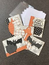 Set Of 5 Halloween Cards Handmade With Envelopes And Storage Case