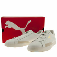 PUMA TENNIS MATCH VULC MENS WHITE LEATHER TRAINERS SIZE 10