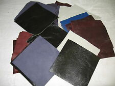 LEATHER SQUARES FOR CRAFTS - 54 FOUR INCH SQUARES-CHOICE OF COLORS