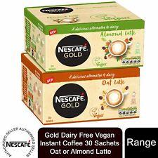Nescafe Gold Dairy Free Vegan Instant Coffee 30 Sachets Oat or Almond Latte