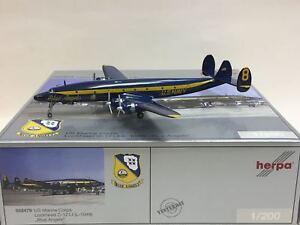 HERPA 1:200 US Marine Corps Lockheed C-121J (L-1049) Blue Angels 552479