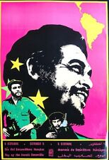CHE -RARE VIVID COLORS - CUBA OSPAAAL POSTER - SIGNED BY ARTIST