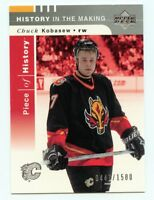 02-03 UPPER DECK PIECE OF HISTORY ROOKIE RC #125 CHUCK KOBASEW 0447/1500 *54284