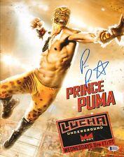 Prince Puma Signed 11x14 Photo BAS COA Lucha Underground Ricochet Pro Wrestling