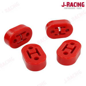 Heavy Duty Exhaust Mount Polyurethane Poly Uprated Replacement Kit x4 Hangers