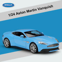 WELLY 1/24 Aston Martin Vanquish Cars Model Simulated Diecast Car Toys Door Open