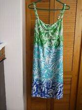 Patterned Dress From Riviera  Lime Green Size 14