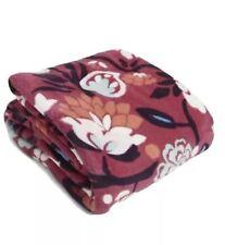 "New Super Soft Vera Bradley Throw Blanket in Bloom Berry 80"" x 50"" Nwt $59"