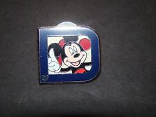 "Disney 2011 Hidden Mickey Collection Pin Classic ""D"" Collection Mickey"