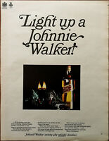 Johnnie Walker Light Up A Johnnie Walker, Strictly for Whiskey Drinkers Ad 1966
